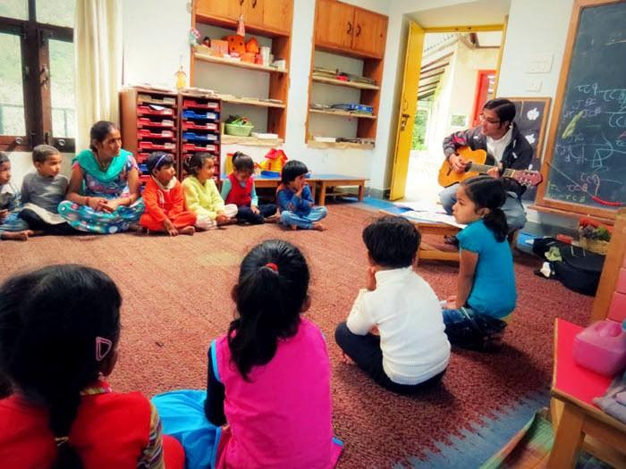 Teaching Kids at CHIRAG