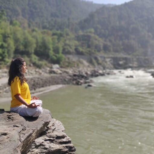 During Yoga Teacher's Training Course at Sivananda Kutir, Netala (Uttarkashi)